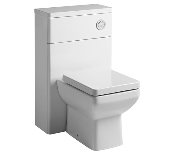 Tavistock Q60 500mm White Back To Wall WC Unit And Worktop - Q6BTWW