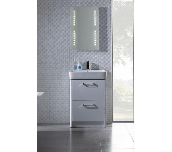 Tavistock Q60 575mm Freestanding Vanity Unit And Ceramic Basin