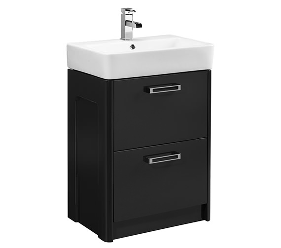 Additional image of Tavistock Q60 Minimalist Freestanding Vanity Unit 575mm And Ceramic Basin