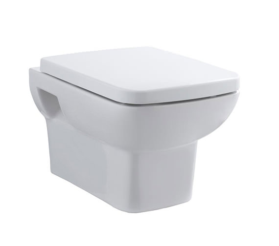 Hudson Reed Arlo 350 x 525mm Square Wall Hung Pan With Soft Close Seat