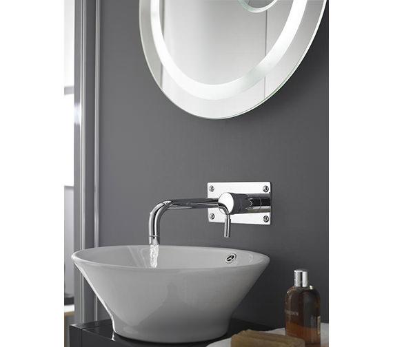 Hudson Reed Tec Round Chrome Plated Basin Bath Filler Tap