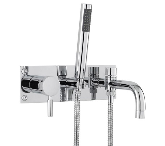 Hudson Reed Tec Single Lever Wall Mounted Bath Shower Mixer Tap With Kit