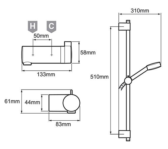 Technical drawing QS-V78643 / 1.1736.400