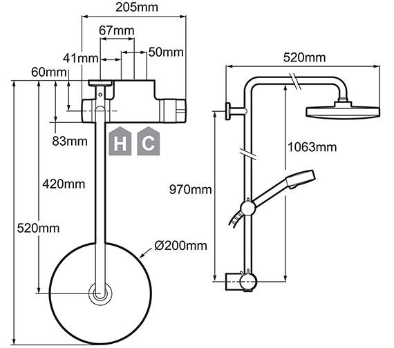 Technical drawing QS-V78646 / 1.1736.403