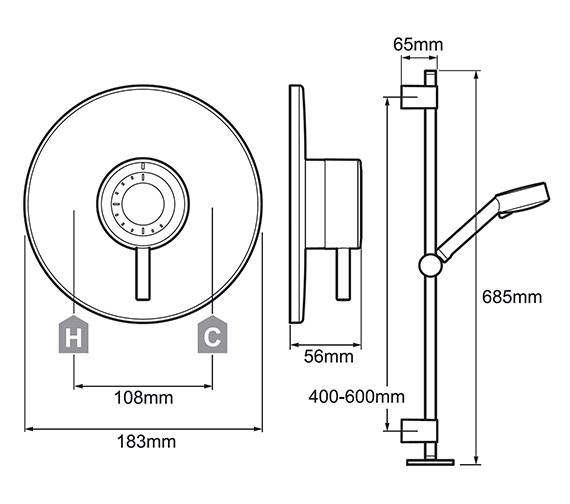 Technical drawing QS-V78655 / 1.1656.002