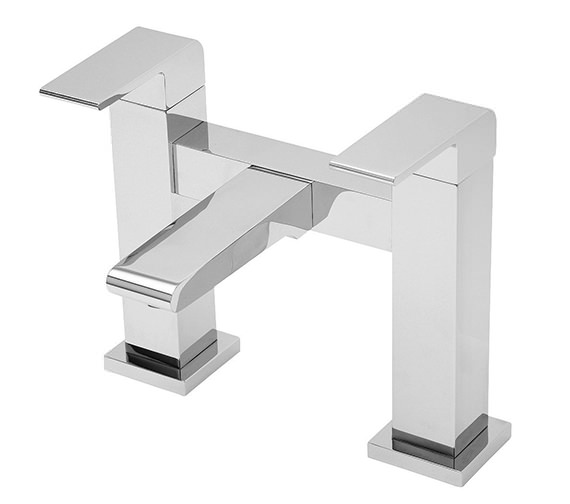 Tre Mercati Rubik Pillar Mounted Bath Filler Tap Chrome - 41040