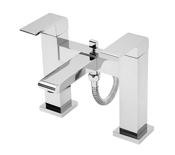 Tre Mercati Rubik Pillar Mounted Bath Shower Mixer Tap With Kit Chrome