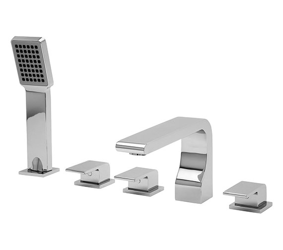 Tre Mercati Rubik 5 Hole Bath Shower Mixer Tap with Kit - 41058