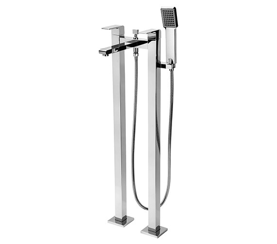Tre Mercati Rubik Floor Mounted Pillar Bath Shower Mixer Tap With Kit
