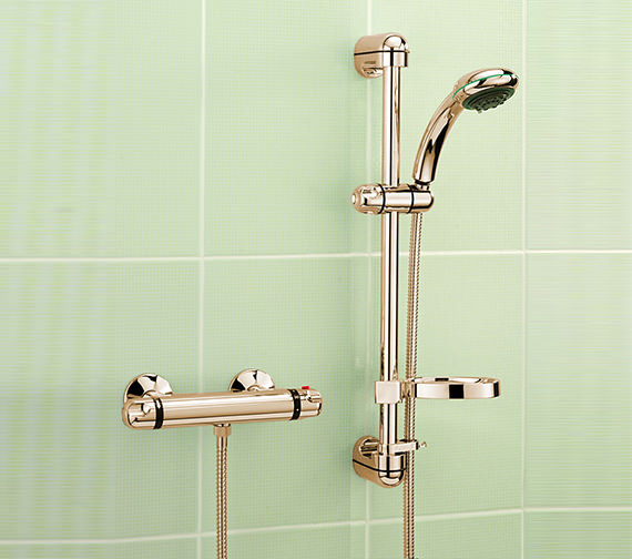 Tre Mercati Roma Gold Plated Exposed Thermostatic Valve With Kit