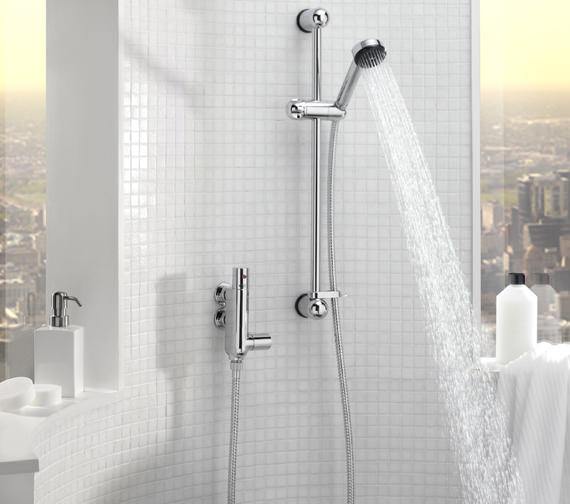 Tre Mercati Vertical Thermostatic Shower Valve With Rainbow No 2 Kit