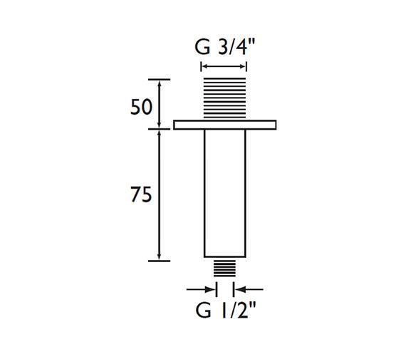 Technical drawing QS-V79140 / ARM CFSQ01 C