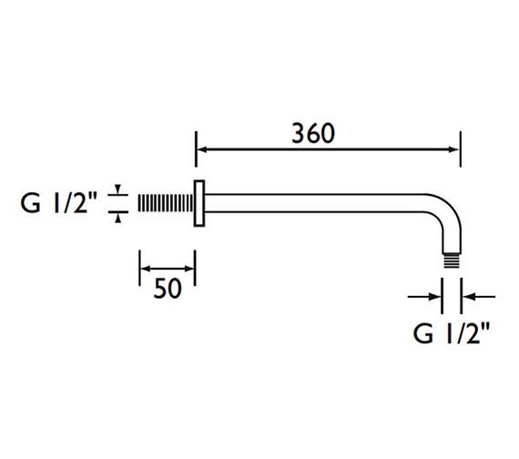 Technical drawing QS-V79143 / ARM CTRD02 C