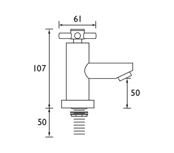 Technical drawing QS-V79159 / DX 3/4 C
