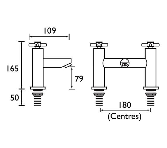 Technical drawing QS-V79161 / DX BF C