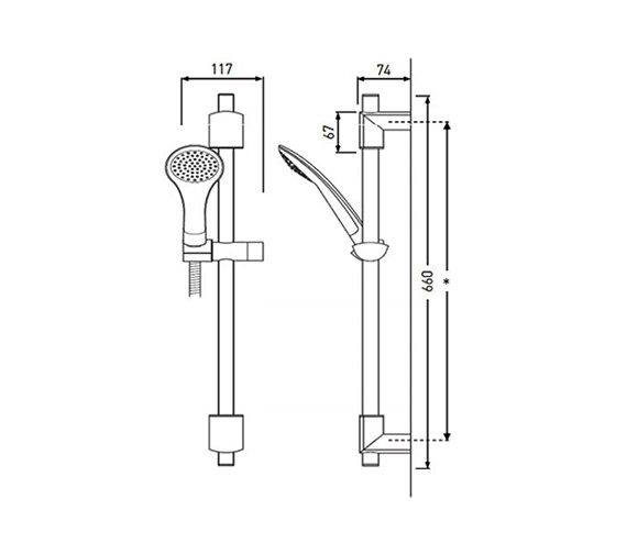 Technical drawing QS-V79165 / EVC KIT01 2M C