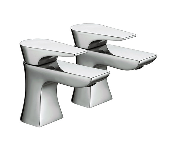 Bristan Hourglass Bath Taps Chrome - HOU 3-4 C