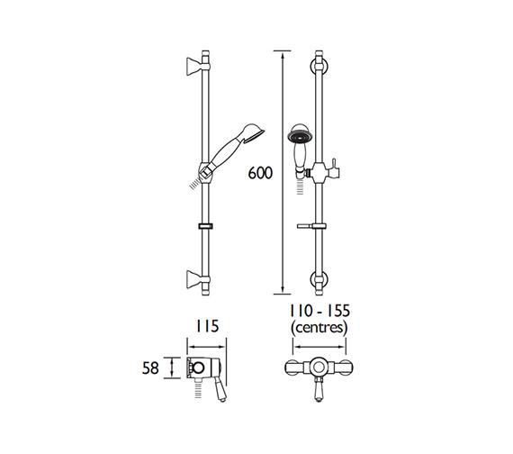 Technical drawing QS-V79193 / KN2 SHXAR C