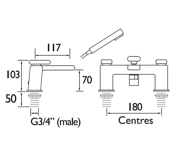 Technical drawing QS-V79200 / PIV BSM C