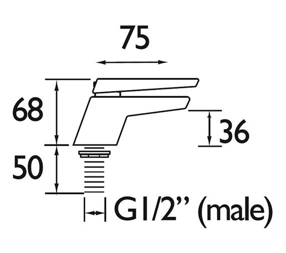 Technical drawing QS-V79205 / SAI 1/2 C