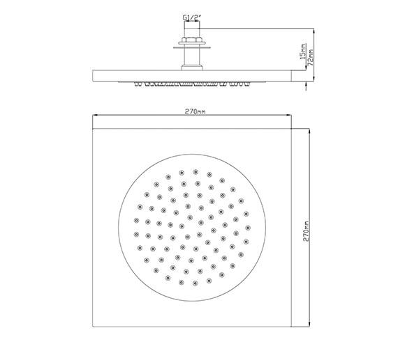 Technical drawing QS-V79253 / HEAD80