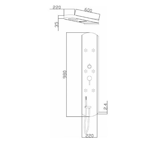 Technical drawing QS-V79279 / PIN003