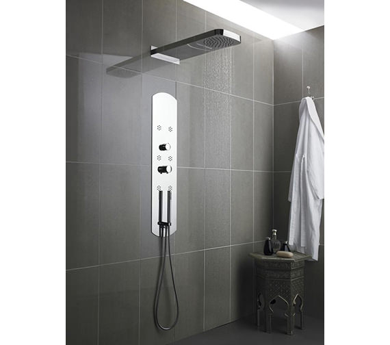 Hudson Reed Interval Recessed Thermostatic Shower Panel - Chrome