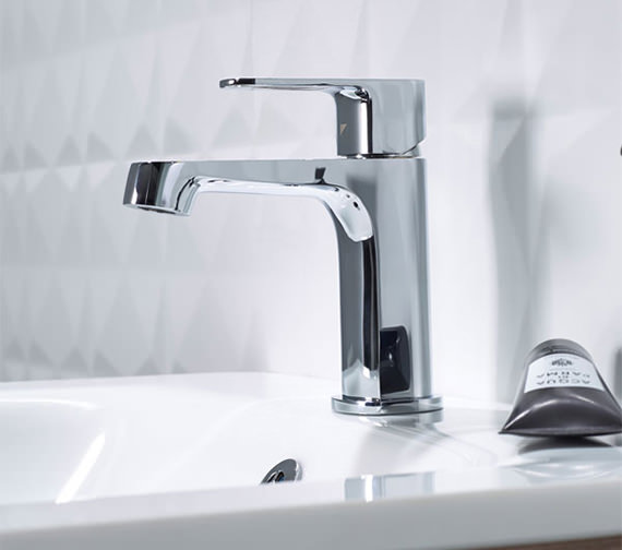 Roper Rhodes Image Mini Basin Mixer Tap With Click Waste 155mm High