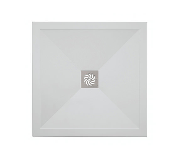 Simpsons 25mm Stone Resin Square Shower Tray 800 x 800mm