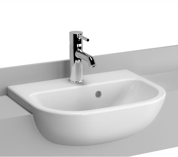 VitrA S20 1 Taphole 45cm Semi-Recessed Basin