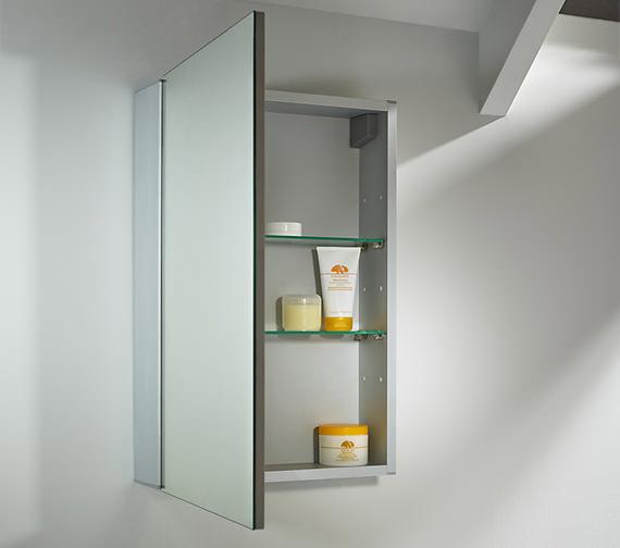 Tavistock Balance 440mm Single Door Mirror Cabinet - BA44AL