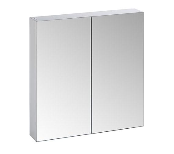 Tavistock Observe White Finish Double Mirror Door Cabinet - OB60W