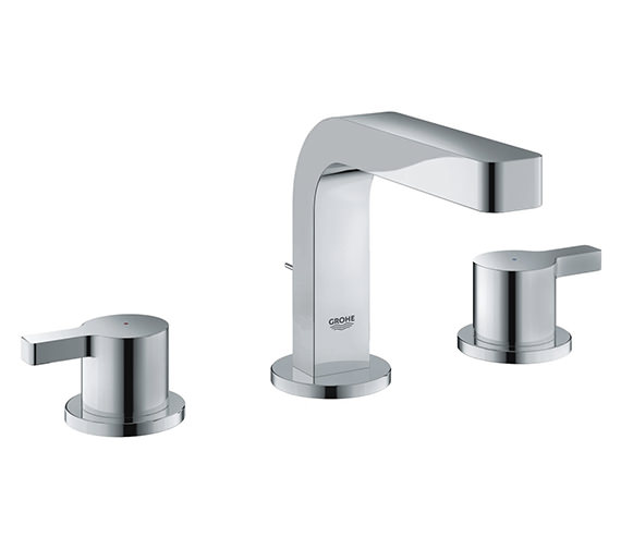 Grohe Lineare 3 Hole Basin Mixer Tap With Pop Up Waste