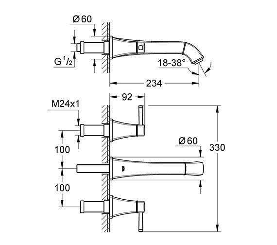 Technical drawing QS-V79485 / 20415000