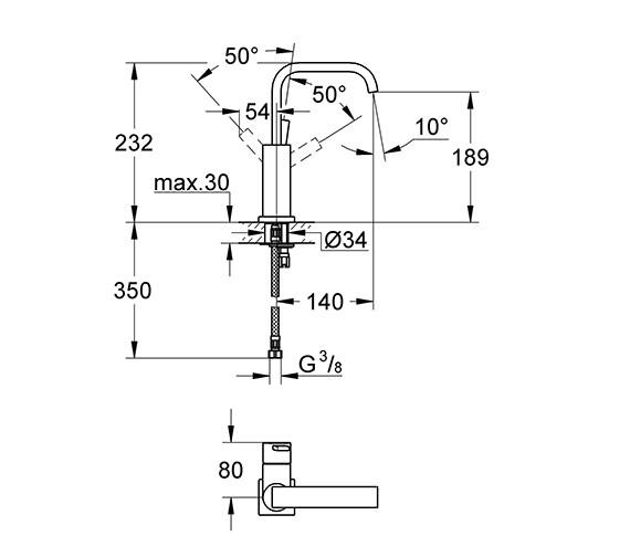 Technical drawing QS-V79491 / 23076000