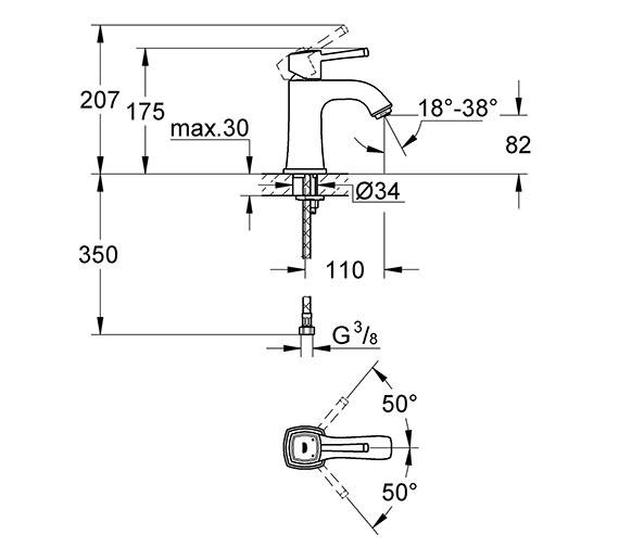 Technical drawing QS-V79494 / 23310000