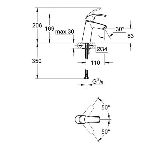 Technical drawing QS-V79501 / 23324001
