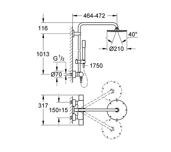 Technical drawing QS-V79518 / 27032001