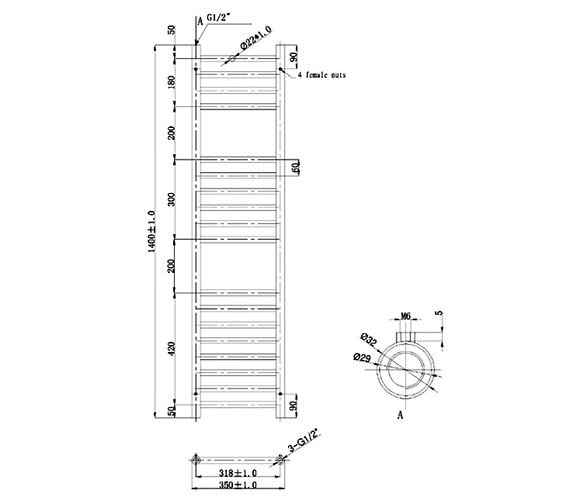 Technical drawing QS-V79560 / EA074