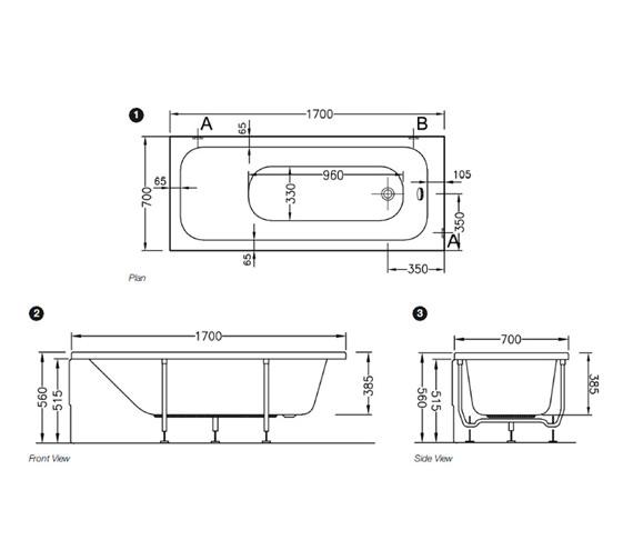 Technical drawing QS-V79732 / 55180001000