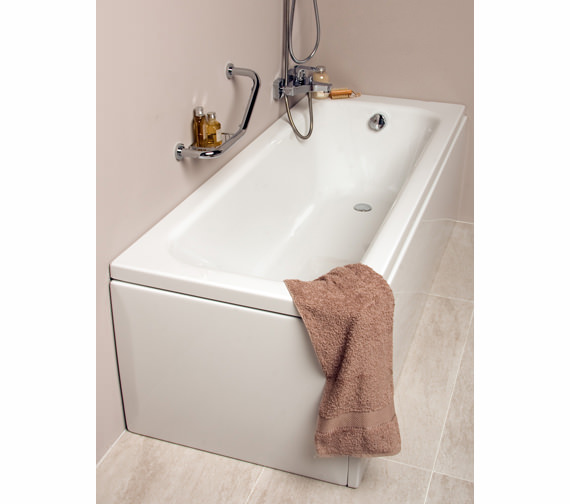VitrA Balance 1500 x 700mm Single Ended Rectangular White Bath