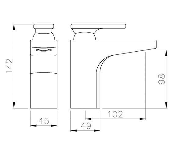 Technical drawing QS-V79735 / AB1005