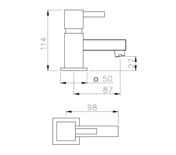 Technical drawing QS-V79741 / AB1282