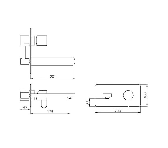 Technical drawing QS-V79750 / AB1456