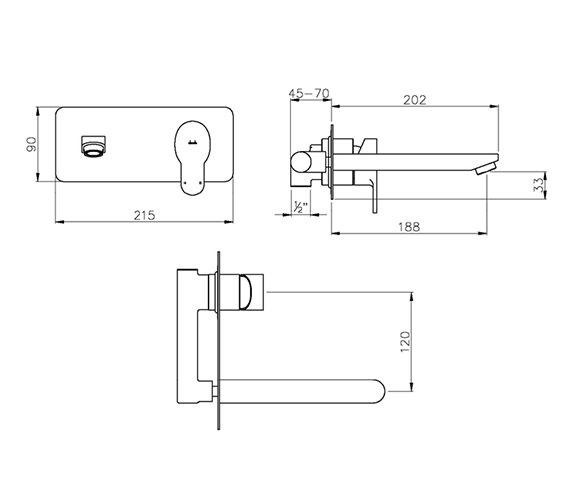 Technical drawing QS-V79757 / AB1554