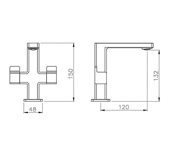 Abode Rapport Monobloc Basin Mixer Tap Chrome - AB1601