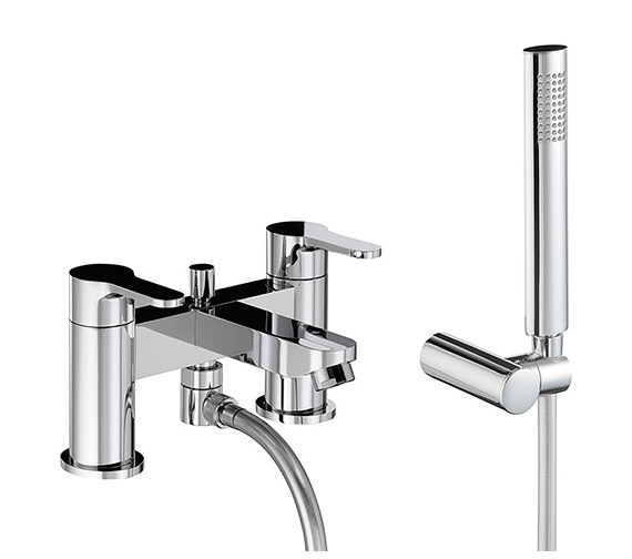 Abode Debut Deck Mounted Bath Shower Mixer Tap With Handset - AB1557
