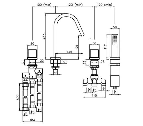 Technical drawing QS-V79820 / AB3028