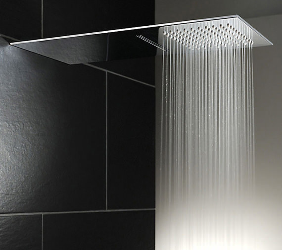 Abode Storm Slimline Wall Mounted Waterfall Showerhead - AB2463