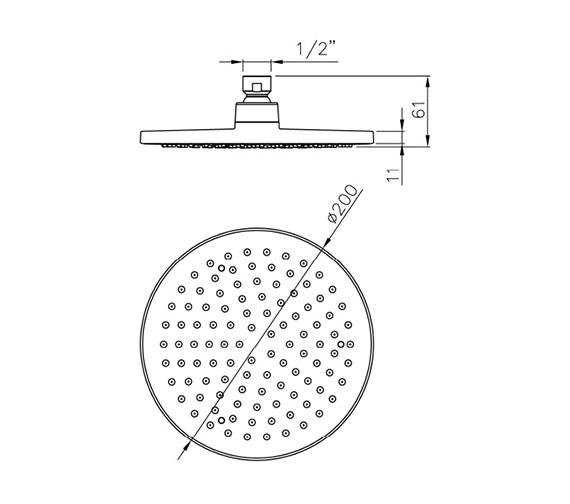 Technical drawing QS-V79825 / AB2466